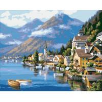 Hobruk  N0004653 HS0002 Набор для рисования по номерам 'Альпийская деревня' 40*50см