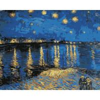 Hobruk  N0004662 HS0140 Набор для рисования по номерам 'Звездная ночь над Роной' 40*50см