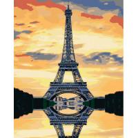 Hobruk  N0007571 HS0001 Набор для рисования по номерам 'Эйфелева башня на закате' 40*50см