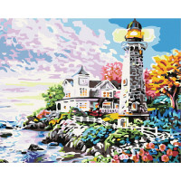 Hobruk  N0007573 HS0034 Набор для рисования по номерам 'Яркий пейзаж у маяка' 40*50см