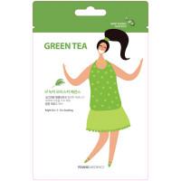 HONGBO CO LTD MSDS_Green Tea1 Тканевая маска для лица Young Mediface (зеленый чай)