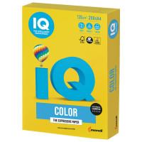 IQ COLOR IG50 Бумага цветная IQ color, А4, 120 г/м2, 250 л., интенсив, ярко-желтая, IG50
