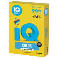 IQ COLOR IG50 Бумага цветная IQ color, А4, 160 г/м2, 250 л., интенсив, ярко-желтая, IG50