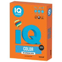 IQ COLOR OR43 Бумага цветная IQ color, А4, 120 г/м2, 250 л., интенсив, оранжевая, OR43
