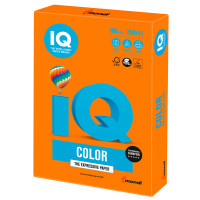 IQ COLOR OR43 Бумага цветная IQ color, А4, 160 г/м2, 250 л., интенсив, оранжевая, OR43