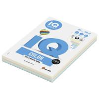 IQ COLOR RB01 Бумага цветная IQ color, А4, 160 г/м2, 100 л. (5 цветов x 20 листов), микс пастель, RB01