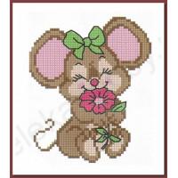 Искусница 242 (НП)_ISK Набор для вышивания крестом «Искусница» 242 (НП) Мышка с цветочком