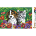 Искусница 722 Котёнок и щенок