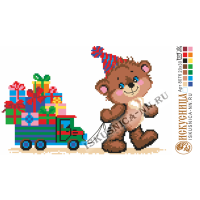 Искусница 8076 Мишка с подарками