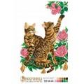 Искусница 8112 Бенгальские кошки и розы