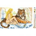 Искусница 8187 Девушка с тигром