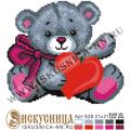 Искусница 828 Мишка с сердечком