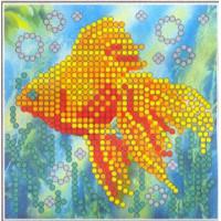Искусница ББ006 Набор для вышивания бисером «Искусница» ББ-006 Золотая рыбка (8*8)