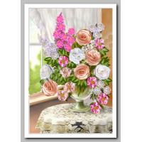 Искусница БЛ601 Набор для вышивания лентами «Искусница» БЛ-601 Букет с белыми розами