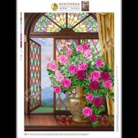 Искусница БЛ602 Набор для вышивания лентами «Искусница» БЛ-602 Розы на витражном окне