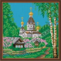 Искусница Деревенька Набор для вышивания крестом «Искусница» 485 Деревенька 19х19см