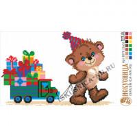 Искусница м8076 Мишка с подарками