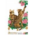 Искусница м8112 Бенгальские кошки и розы