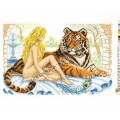 Искусница м8187 Девушка с тигром