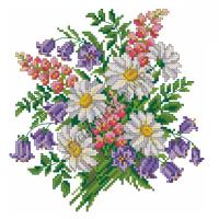 Искусница Набор для вышивания крестом «Искусница» 581 Полевые цветы 21*21 Набор для вышивания крестом «Искусница» 581 Полевые цветы 21*21