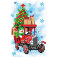 Искусница Рисунок на канве с мулине «Искусница» 8241  Снеговик в грузовике 20*30 (Рисунок с мулине) Рисунок на канве с мулине «Искусница» 8241  Снеговик в грузовике 20*30 (Рисунок с мулине)