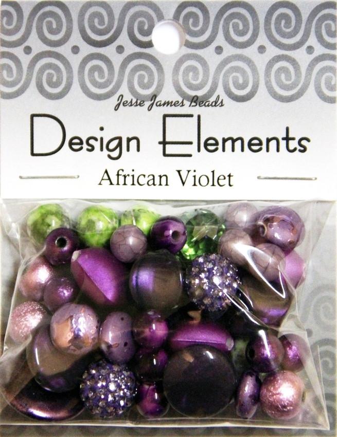 """Набор декоративных бусин """"Design Elements"""" 5900 Африканская фиалка"""
