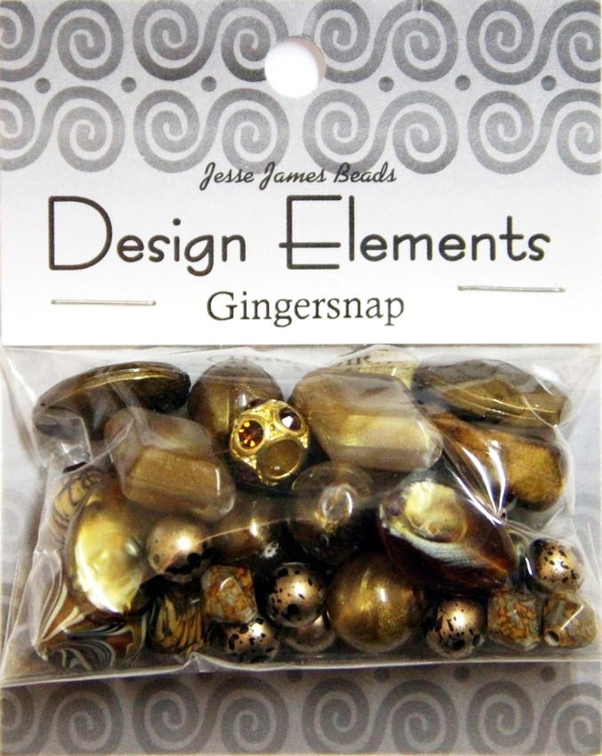 """Набор декоративных бусин """"Design Elements"""" 5923 Имбирное печенье"""