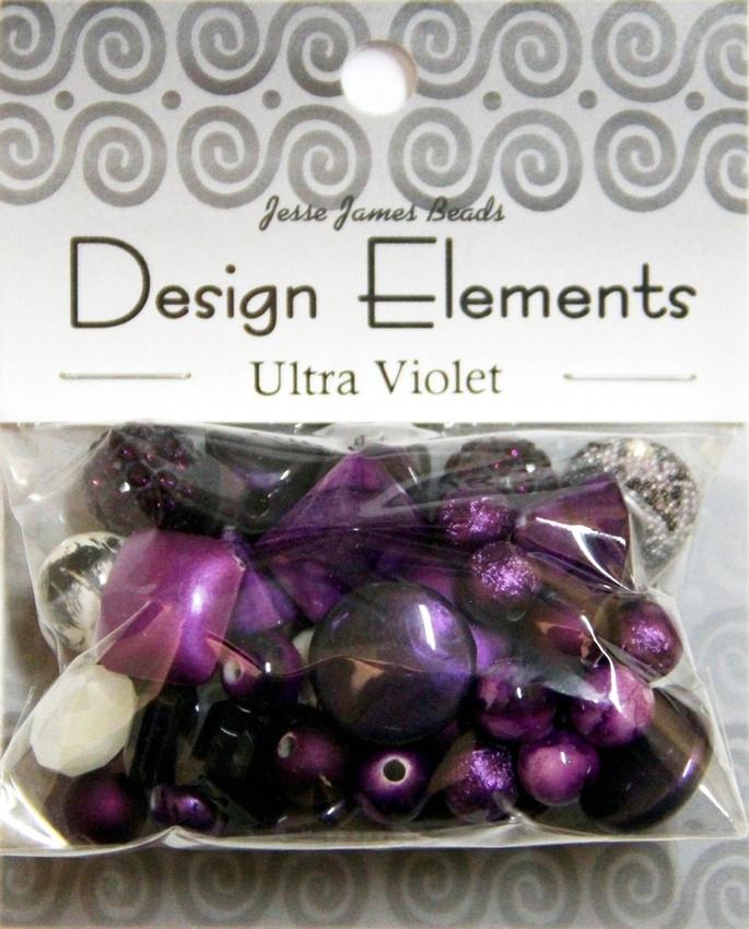 """Набор декоративных бусин """"Design Elements"""" 5924 Ультрафиолетовый"""