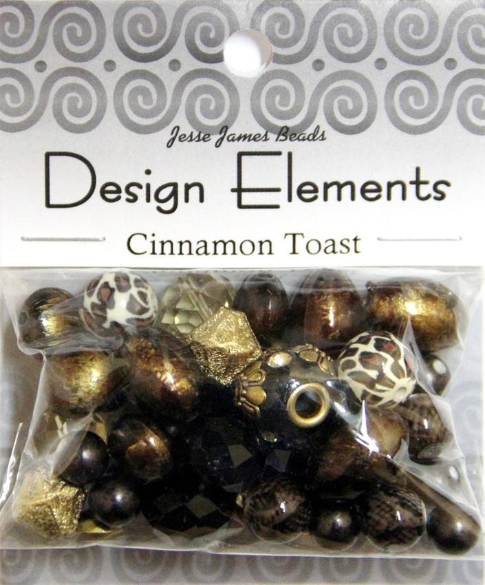 """Набор декоративных бусин """"Design Elements"""" 5913 Тост с корицей"""