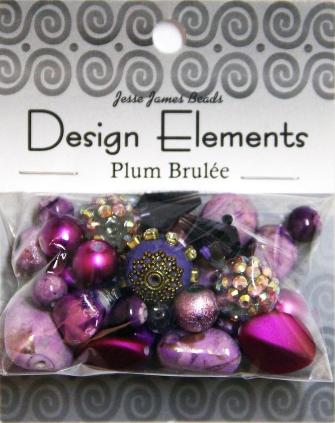 """Набор декоративных бусин """"Design Elements"""" 5896 Сливовое крем-брюле"""