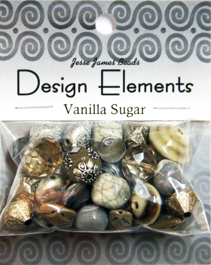 """Набор декоративных бусин """"Design Elements"""" 5927 Ванильный сахар"""