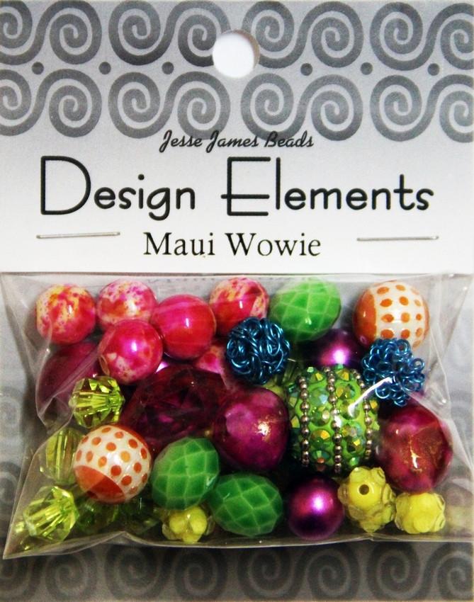 """Набор декоративных бусин """"Design Elements"""" 5904 Гавайская марихуана"""