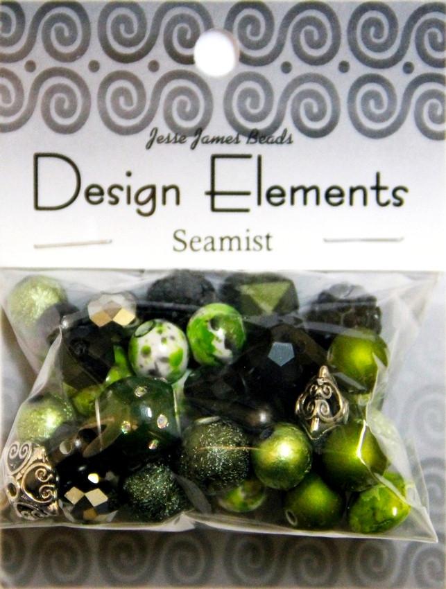 """Набор декоративных бусин """"Design Elements"""" 5907 Морской туман"""