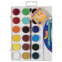 JOVI 800/18 Краски акварельные JOVI (Испания), 18 цветов, с кистью, пластиковая коробка, европодвес, 800/18