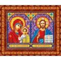 Каролинка КБИ 5011 Венчальная пара. Икона МБ Казанская и Господь Вседержитель