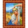 Каролинка КБЛ 3009 Деревенская девушка. По картине К. Васильева