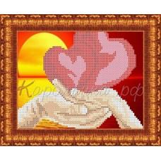 Набор для вышивания КБЛН(ч)5009 Влюблённые сердца