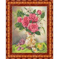 Каролинка КБЦ 3021 Розы в вазе