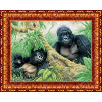 Каролинка КБЖ 3022 Семья горилл