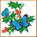 Каролинка КТКН 013 (р) Бабочки на смородине