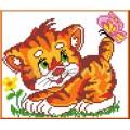 Каролинка КТКН 014 Котёнок с бабочкой