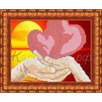 Каролинка Набор для вышивания «Каролинка Азовья» КБЛН 5001 Влюбленные сердца Набор для вышивания «Каролинка» КБЛН 5001 Влюбленные сердца
