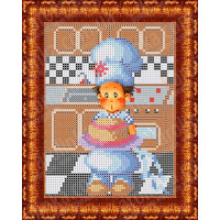 Каролинка Набор для вышивания «Каролинка Азовья» КБЛН 5003 Юный повар Набор для вышивания «Каролинка» КБЛН 5003 Юный повар