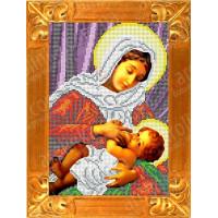 Каролинка Рисунок-схема на ткани «Каролинка Азовья» КБИ 4065 Матерь Божья Кормящая Рисунок-схема на ткани «Каролинка» КБИ 4065 Матерь Божья Кормящая