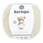 Пряжа для вязания Kartopu Amigurumi (Картопу Амигуруми) Цвет 025 молочный