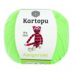 Пряжа для вязания Kartopu Amigurumi (Картопу Амигуруми) Цвет 1437 светло зеленый