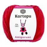 Пряжа для вязания Kartopu Amigurumi (Картопу Амигуруми) Цвет 150 красный