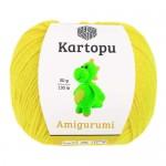 Пряжа для вязания Kartopu Amigurumi Цвет 330 ярко желтый