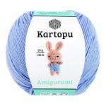 Пряжа для вязания Kartopu Amigurumi (Картопу Амигуруми) Цвет 544 голубой