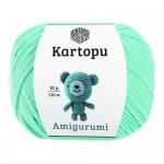 Пряжа для вязания Kartopu Amigurumi (Картопу Амигуруми) Цвет 551 светлый изумруд